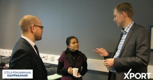 Lien busy networking at a Chamber of Commerce event