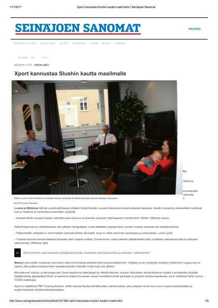 30-09-2014-seinajoen-sanomat-xport-kannustaa-slushin-kautta-maailmalle-1