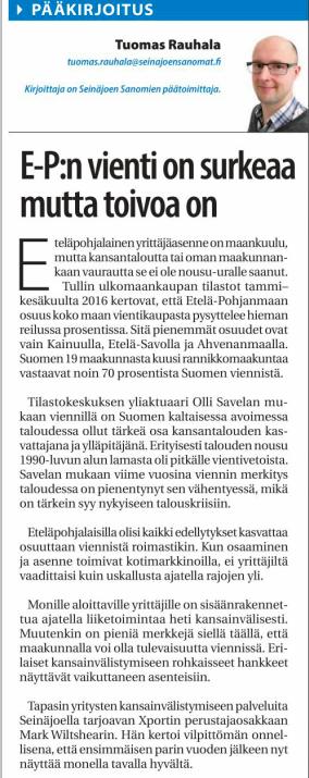 Seinäjoen sanomat 03.03.2017
